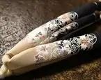 花柄刺繍ぼかし花緒
