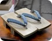 夏色・大三味に編み目柄花緒