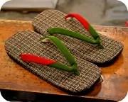 色つきパナマ格子編み草履に毛切らず・色無地江戸褄花緒