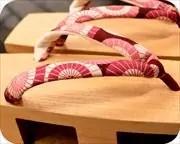 相三味に蛇の目傘柄花緒 花緒