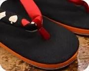 倉敷帆布草履にトランプ柄水引花緒 前壷