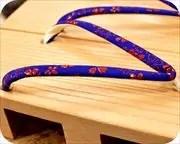 柾真角に撫子柄印伝花緒 花緒