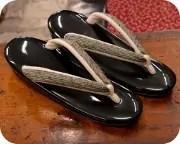 1の3枚芯草履に奄美布福林花緒