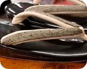 1の3枚芯草履に奄美布福林花緒 花緒
