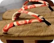 烏表付大日光に蛇の目傘柄花緒 花緒