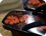 八雲塗り芳町に小桜柄印伝福林花緒 花緒