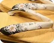 南部表草履に刺繍花柄花緒 花緒