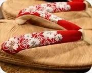野崎平表草履に花柄刺繍花緒 花緒