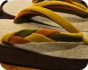 シコロ張り舟形に編み三石花緒 花緒