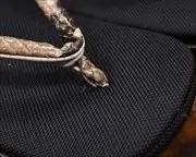 コーデュラ草履にニシキヘビ革花緒 前壷