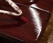 糸春真角に赤裏ニシキヘビ革花緒 前壷