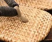 パナマ市松草履に安曇野木綿花緒 前壷