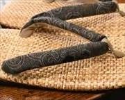パナマ市松草履に安曇野木綿花緒 花緒
