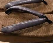烏表付き舟形にトカゲ柄花緒 花緒