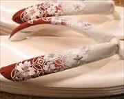 3分3枚本革草履にぼかし花柄刺繍花緒 花緒