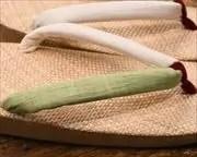 ケンマ草草履に近江織麻布水引花緒 花緒