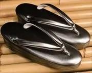黒銀ぼかし草履