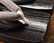 黒捌き三味舟形に会津木綿花緒 前壷