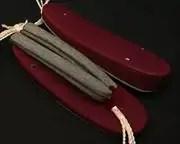 帆布草履・臙脂亀田縞花緒・赤ツボ