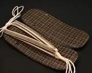 パナマ格子草履にクローバー柄印伝福林花緒