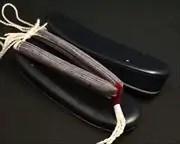 濃紺遠州綿紬・絣花緒