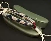 緑蛇の目傘柄花緒