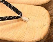 南部表付き横柾大千両に小桜柄印伝江戸褄花緒 前壷